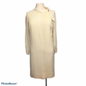Nardis of Dallas Vintage 60's Cream Pleated Dress